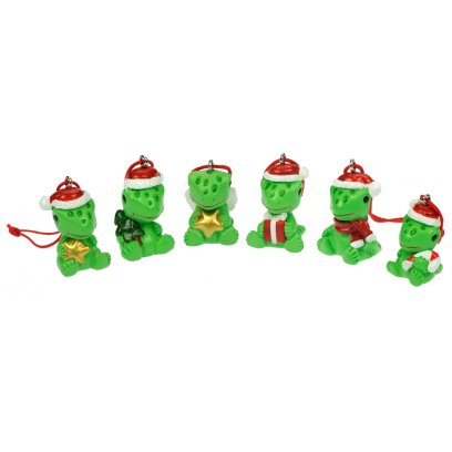 Blue Bug Christmas Ornaments Geckos Set of 6