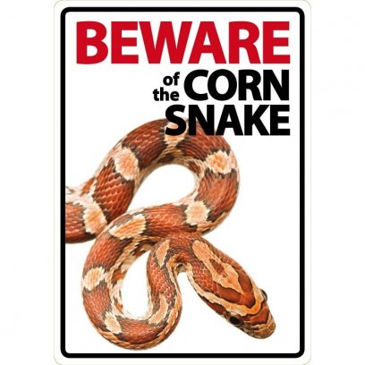 Beware of the Corn Snake sign