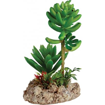 RepStyle Desert Plant with Rock Base 7.5cm