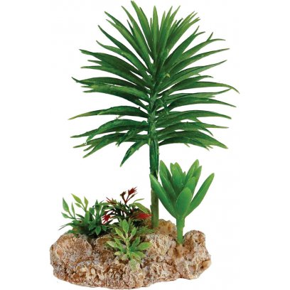 RepStyle Desert Plant with Rock Base 9cm