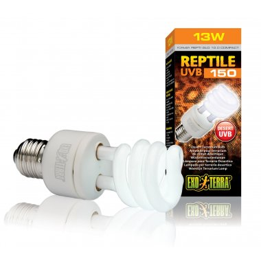 Exo Terra Reptile UVB150 Compact Lamp 13w