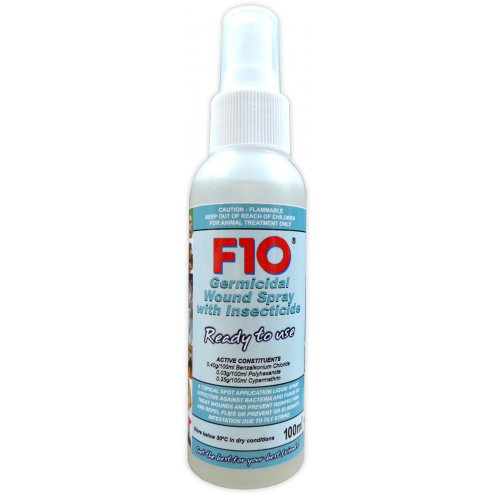 F10 Wound Spray with Insecticide 100ml