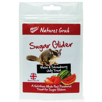 Natures Grub Sugar Glider Jelly - Melon & Strawberry 70g