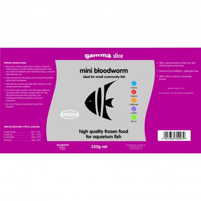 Gamma Slice Mini Bloodworm 250g