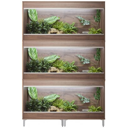 Vivexotic Repti-Home 3-Stack Vivariums - Maxi Large Walnut 115cm