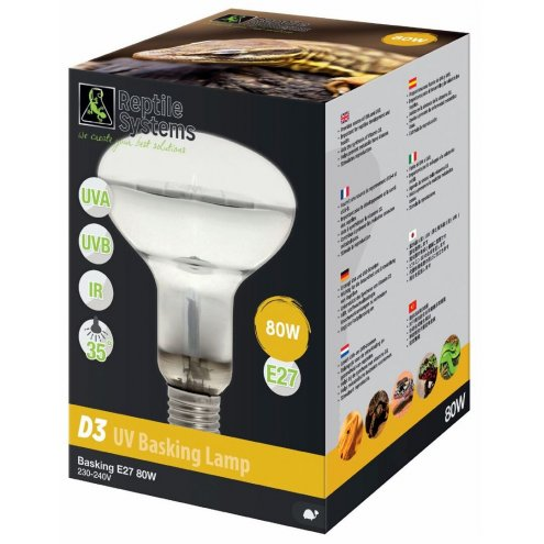 Reptile Systems D3 UV Basking Lamp 80w