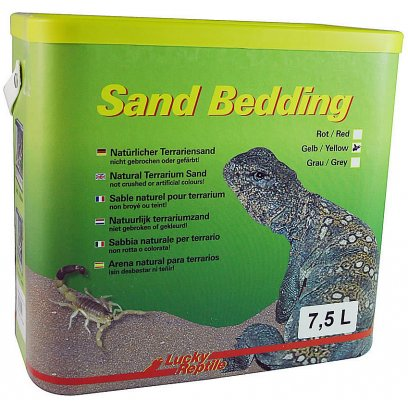 Lucky Reptile Sand Bedding Yellow 7.5L