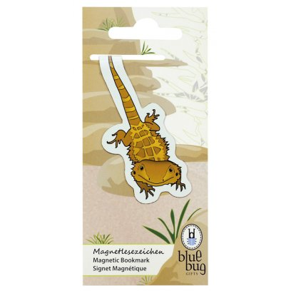 Blue Bug Magnetic Bookmark Bearded Dragon