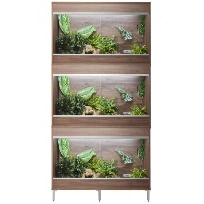 Vivexotic Repti-Home 3-Stack Vivariums - Maxi Medium Walnut 86cm