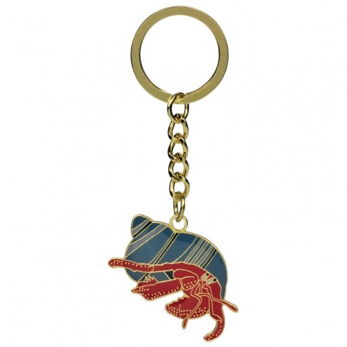 Blue Bug Metal Keyring Hermit Crab