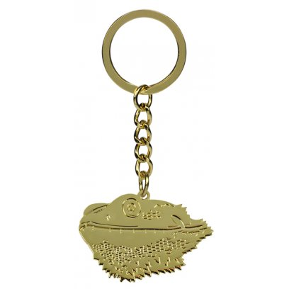 Blue Bug Metal Keyring Bearded Dragon Head