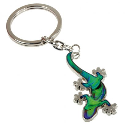 Blue Bug Mood Keyring Gecko