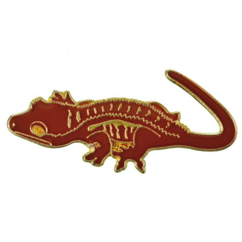 Blue Bug Pin Badge Crested Gecko