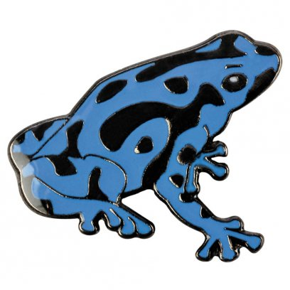 Blue Bug Pin Badge Dart Frog Blue