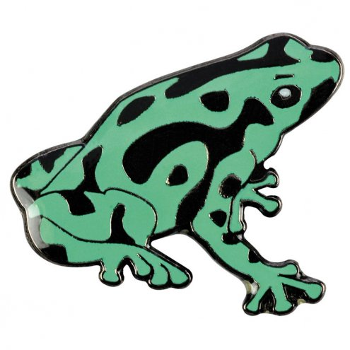 Blue Bug Pin Badge Dart Frog Green