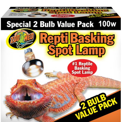 Zoo Med Repti Basking Spot VALUE PACK 2x 100W