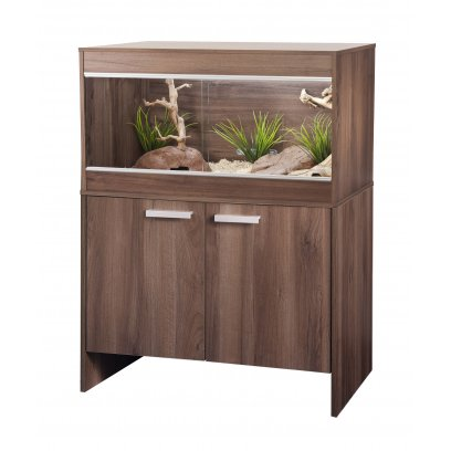 Vivexotic Repti-Home Vivarium & Cabinet - Maxi Medium Walnut