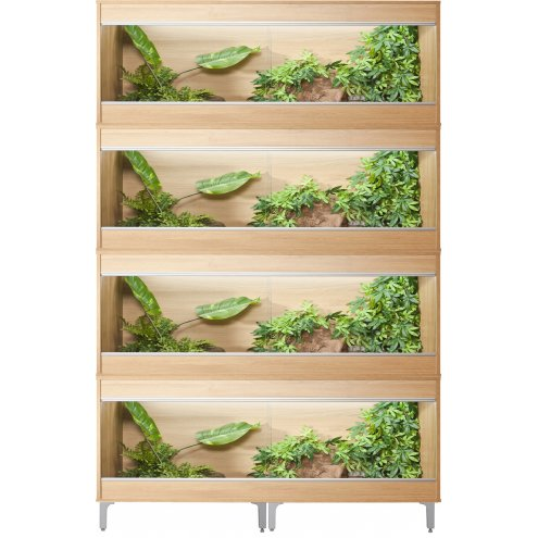 Vivexotic Repti-Home 4-Stack Vivariums - Large Oak with Feet 115cm