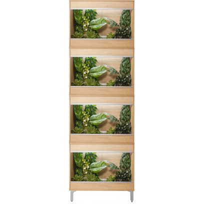 Vivexotic Repti-Home 4-Stack Vivariums - Small Oak with Feet 57.5cm