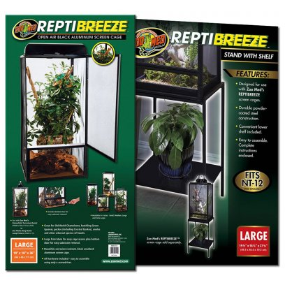Zoo Med ReptiBreeze Screen Cage Large & Stand