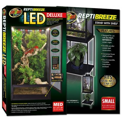 Zoo Med ReptiBreeze LED Cage Medium & Stand