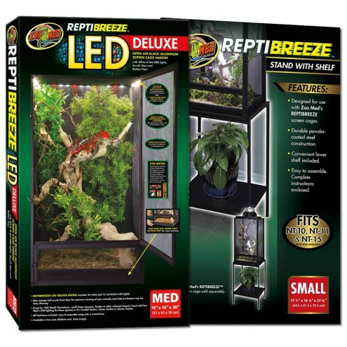Zoo Med Reptibreeze Led Cage Medium Amp Stand