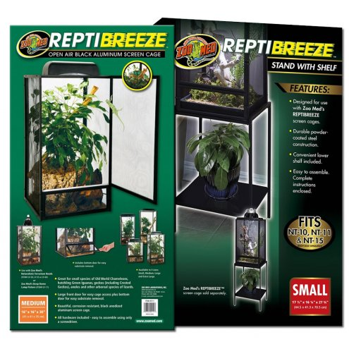 Zoo Med ReptiBreeze Screen Cage Medium & Stand