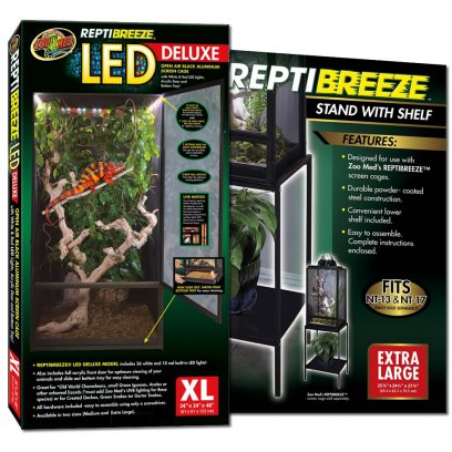 Zoo Med ReptiBreeze LED Cage X-Large & Stand