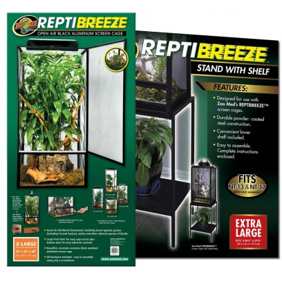 Zoo Med ReptiBreeze Screen Cage X-Large & Stand