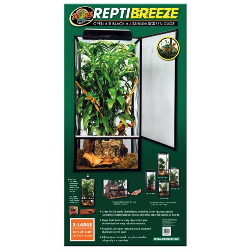 Zoo Med ReptiBreeze Screen Cage X-Large 61x61x122cm