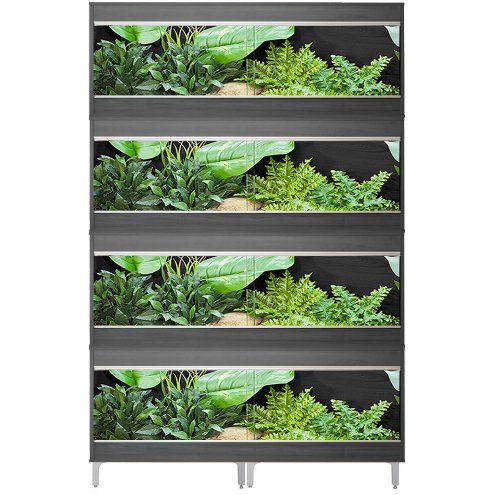 Vivexotic Repti-Home 4-Stack Vivariums - Large Grey with Feet 115cm