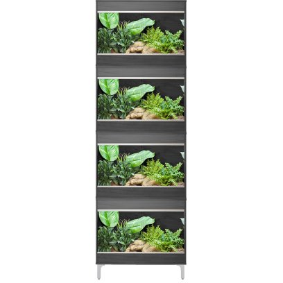Vivexotic Repti-Home 4-Stack Vivariums - Small Grey with Feet 57.5cm