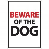 Beware Sign: Dog