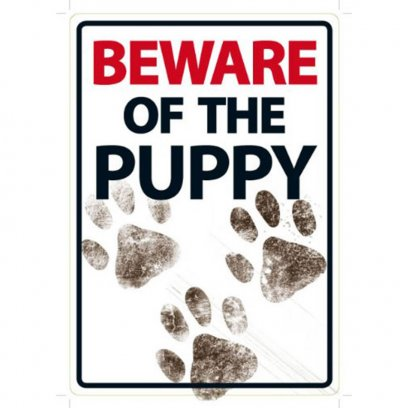 Beware Sign: Puppy