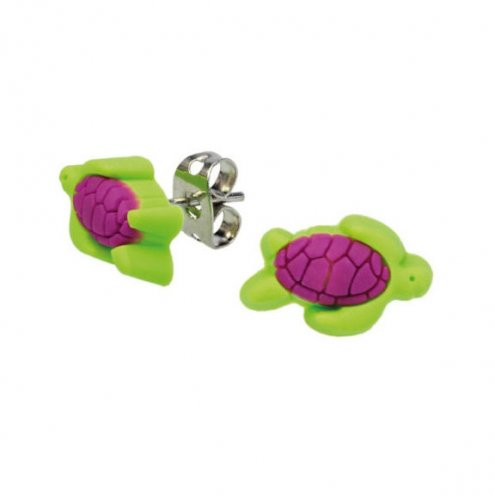 Blue Bug Soft PVC Earstuds Turtle