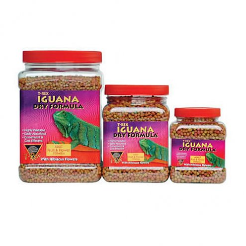 T-Rex Iguana Food Fruit and Flower Juvenile 226g