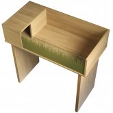 Vivexotic Viva Tortoise Table with Stand - Oak