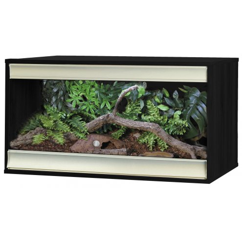 Vivexotic Viva+ Terrestrial Vivarium - Medium Black 86x49x50cm