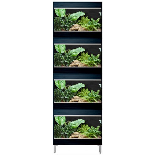 Vivexotic Repti-Home 4-Stack Vivariums - Small Black with Feet 57.5cm