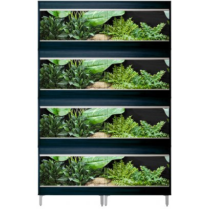 Vivexotic Repti-Home 4-Stack Vivariums - Large Black with Feet 115cm