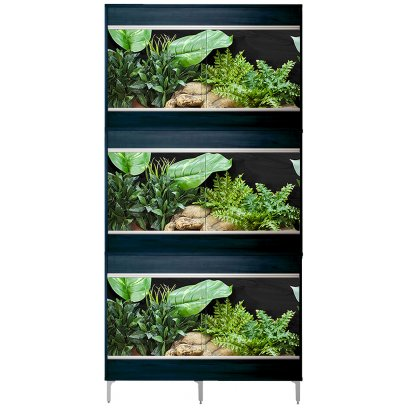 Vivexotic Repti-Home 3-Stack Vivariums - Maxi Medium Black 86cm