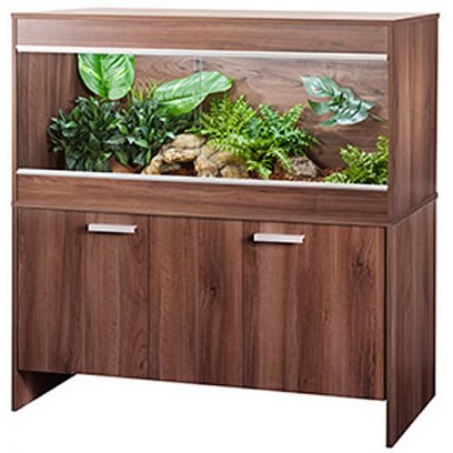 Vivexotic Repti-Home Vivarium & Cabinet - Extra Large Maxi Walnut