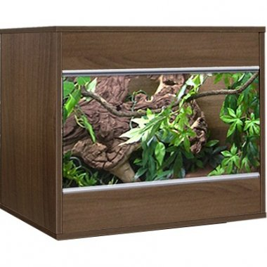 Vivexotic Tobacco Walnut VX24 Vivarium 587 x  470 x 525mm