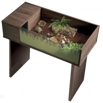 Vivexotic Viva Tortoise Table with Stand - Walnut