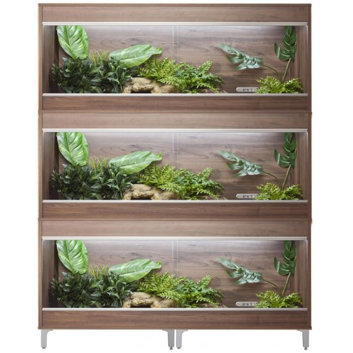 Vivexotic Repti-Home 3-Stack Vivariums - Maxi XL Walnut 137.5cm