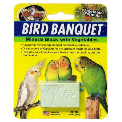 Zoo Med Bird Banquet Mineral Block Vegetable 28g