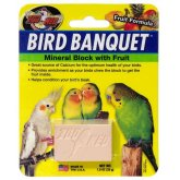 Zoo Med Bird Banquet Mineral Block Fruit 28g