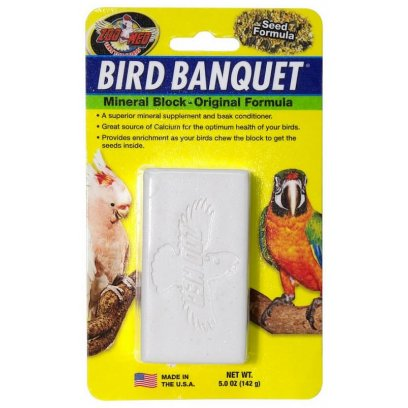 Zoo Med Bird Banquet Mineral Block Seed 142g