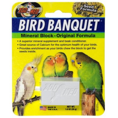 Zoo Med Bird Banquet Mineral Block Seed 28g