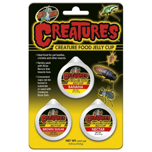 Zoo Med Creatures Food Jelly Cup 3 Pack